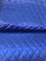 ♥QUILTED Satin♥ 0.95m BLUE Kobalt