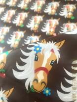 ♥MON CHERI♥ 0.5m BESCHICHTETE BAUMWOLLE Pony SCHOKOLADE