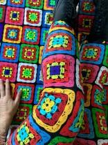 ♥GRANNY SQUARE♥ 0.5m JERSEY designer fabric CROCHET