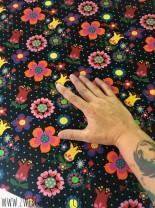 ♥BLUMENschoen on BLACK♥ 0.5m SWEATSHIRT Flower Power