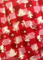 ♥FAIRYTAUSENDSCHÖN♥ on VICHY 0.5m SWEATSHIRT rot/pink