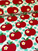 ♥APPLE on DOTS♥ 0.5m JERSEY Polka Dots ORGANIC fabric