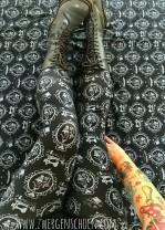 ♥SEW Milli SEW!♥ 0,5m nadelschöner JERSEY Silhouette SCHWARZ/grau