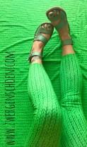 ♥STRICKWUNDER♥ 0.5m JERSEY Digitaldruck ZOPFMUSTER grün