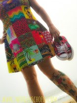♥AFRICA-PATCHWORK♥ 0.5m JERSEY