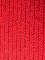 ♥STRICKWUNDER♥ 0.5m SWEATSHIRT Digitaldruck ZOPFMUSTER rot L