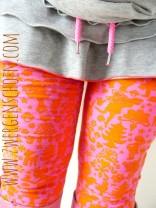 ♥FAIRYtausendSCHOEN♥ Jersey ORGANIC pink/orange PRIcE PER METER