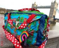 ♥CITY of LONDON♥ 0.5m beschichtete Baumwolle DIGITALDRUCK!!!