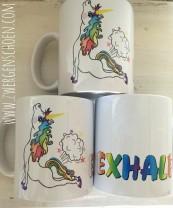 ♥EXHALE♥ Mug UNICORN of ZWERGENSCHoeN 0.3L