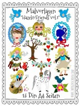♥COLORING PAGES♥ HAZEL&Friends vol.1 ZWERGENSCHoeN Cinderella