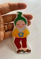 ♥1von7♥ AUFKLEBER Otto BLUMEN Gnome ZWERG 9cm TRANSPARENT