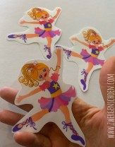 ♥BALLERINA♥ Aufkleber STICKER transparent 11cm