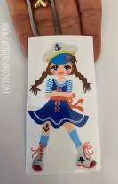 ♥SAMMY the SAILOR♥ Aufkleber MATROSENMÄDCHEN transparent 10cm