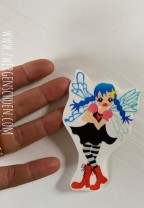 ♥REBELLA♥ Aufkleber FAIRY FEE transparent 9cm