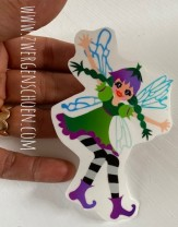♥REGENBOGEN-Fee♥ Aufkleber FAIRY FEE transparent 9cm