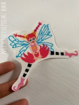 ♥AKROBATIC♥ Aufkleber FAIRY FEE transparent 10cm