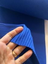 ♥HEAVY RIB♥ 0.25m BÜNDCHEN blau KOBALT Dicke Rippe SCHLAUCHWARE