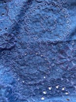 ♥BRODERIE♥ 0.5m WEBWARE Stickereien DENIM Jeans