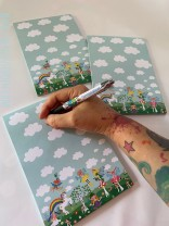 ♥MIXohMAGIC♥ Notepad A5 50 Sheets FAIRIES UNICORNs