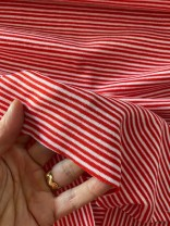 ♥CUFF♥ 0.25m STRIPES Jersey red/white IRRGEGULAR