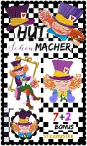 ♥HUTschoenMACHER♥ Embroidery ART-File SET MAD HATTER 10x10 13x18 +BONUS (GigaHOOP)