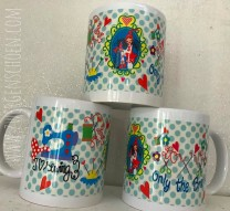 ♥SEW Milli SEW!♥ Tasse 0.3L ONLY the BRAVE bunt