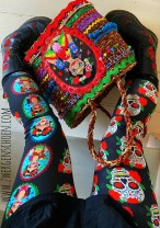 ♥MEXICOschön vol.1♥ 0.5m JERSEY black FRIDA+CALAVERA