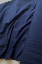 ♥UNI-JERSEY♥ 0.5m NAVY marine BLAU