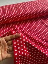 ♥PUNKTE♥ 0.5m JERSEY rot/weiss POLKA DOTS