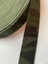 ♥GUMMIBAND♥ Camouflage FLECKTARN 25mm GREEN