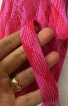 ♥FLACHKORDEL♥ Kordel VICHY rot/pink KARIERT 2cm