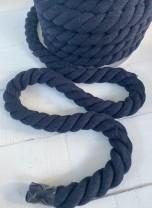 ♥SEILKORDEL♥ Kordel SEIL fett MARINE blau 2.5cm