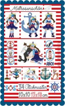 ♥MATROSENschön♥ Stickmuster SAILOR Girl MATROSEN 10x10 13x18cm