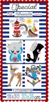 ♥MATROSENschoen SPECIAL♥ Embroidery FILE-Set GigaHOOP Sweet Sailor 18x30 20x26cm