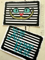 ♥ART-CARD♥ Postcard SET of 3 ALICE Chesire Cat
