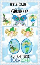 ♥Tinka Bella LUFTFEE GigaHOOP♥ Stickmuster ELFEN Schmetterling FEEN 20x26 20x30cm