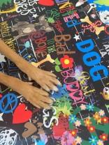 ♥WUFFz on GRAFFITISCHÖN♥ 0.49m NYLON Hunde DARK schwarz