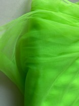 ♥ORGANZA♥ 0.5m TÜLL Mesh ELFEN+FEEN lime GRÜN