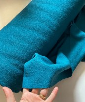 ♥BOILED WOOL plus♥ 0.3m WALK Loden PETROL 40%WOOL 60%VISCOSE