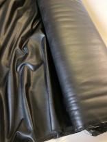 ♥SOFT Fake LEATHER♥ 0.5m VEGAN Stretch LEDER schwarz