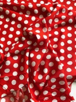 ♥ANCHOR♥ 0.5m WOVEN COTTON red HOPE