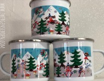 ♥WINTERWUNDERLAND♥ Tasse EMAILLE Becher WINTER WONDER