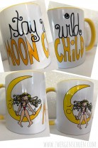 ♥STAY WILD MOON CHILD♥ Tasse 0.3L KERAMIK Mondmädchen