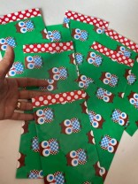 ♥sweet OWLs♥ flat PAPER BAG 10pieces GREEN