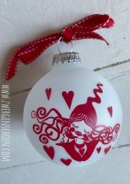 ♥GLASKUGEL♥ Xmas MILLI in LOVE 8cm DURCHMESSER Matt GLAS