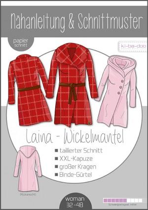 ♥Damen-Mantel LAINA♥ PAPIER-SCHNITTMUSTER Din A0 WOMAN 32-48