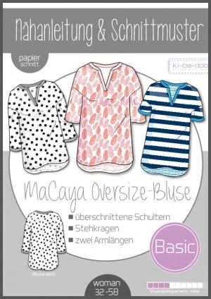 ♥Oversize Bluse MaCaya♥ PAPIER-SCHNITTMUSTER Din A0 WOMAN 32-58
