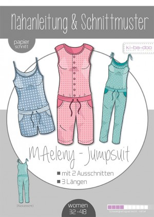 ♥Jumpsuit MAeleny♥ PAPIER-SCHNITTMUSTER Din A0 WOMAN 32-48