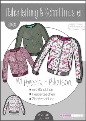 ♥Blouson MAneela♥ PAPIER-SCHNITTMUSTER Din A0 WOMAN 32-48