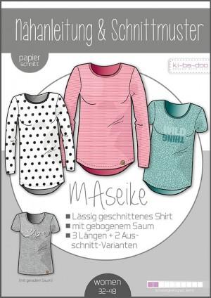 ♥Shirt MAseike♥ PAPIER-SCHNITTMUSTER Din A0 WOMAN 32-48
